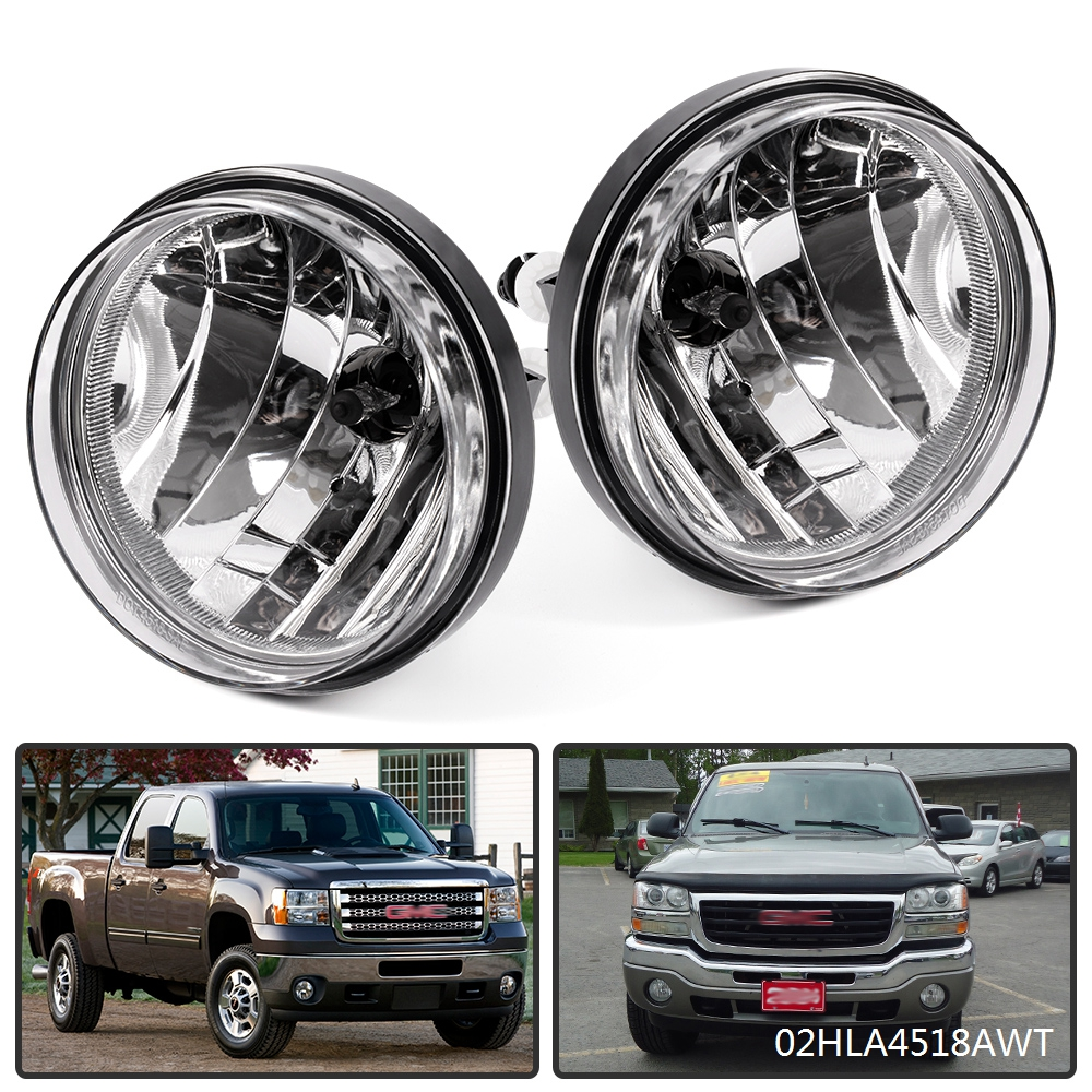 Chrome Clear Front Driving Fog Light//Lamp+Switch for 2007-2014 Silverado//Sierra